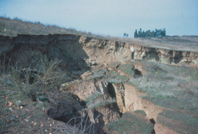 Landsliding caused by grading of a subdivision in Poway in early 1970's